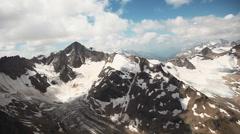 Mount Elbrus in the Caucasus Stock Footage