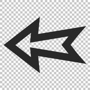 Arrow Left Glyph Icon Stock Illustration