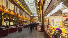 Timelapse Leadenhall with transition of point of view UHD Stock Footage