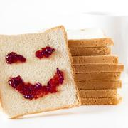 Slice of bread with personality :) Stock Photos