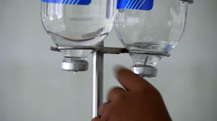 Drop counter in a orthopedics surgical operating room 1 Stock Footage