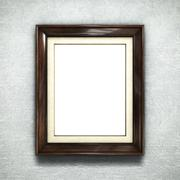 Wooden frame on wallpaper Stock Illustration