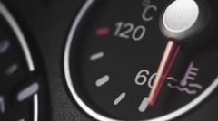 Car coolant gauge Stock Footage
