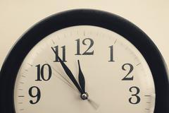 Old Dusty Clock Stock Photos