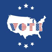 USA Voting Design Concept with Map Stock Illustration