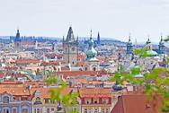 Prague, Overview from Letna Stock Photos