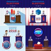Digital vector usa presidential election Stock Illustration
