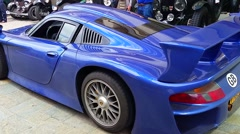 Porsche 911 GT1 Start Engine Stock Footage