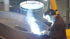 Metal welding Stock Footage