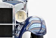 Blue vintage car Stock Photos