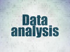 Data concept: Data Analysis on Digital Data Paper background Stock Illustration