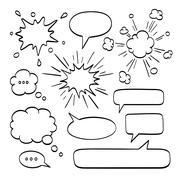 Set of  speech bubbles. Stock Illustration