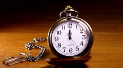 Timelapse of the second hand movement on a pocket watch. Stock Footage