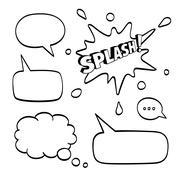 Set of speech comic bubbles Stock Illustration