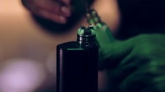 Coil building for vape Stock Footage