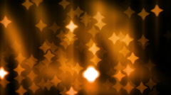 Holiday Golden Bokeh Lights Background Stock Footage