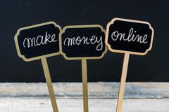 Business message MAKE MONEY ONLINE Stock Photos