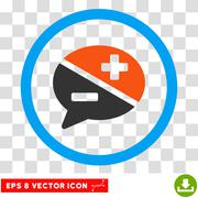 Arguments Eps Rounded Icon Stock Illustration