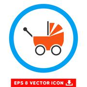 Baby Carriage Eps Rounded Icon Stock Illustration