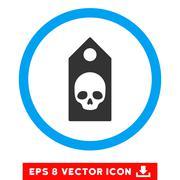 Death Coupon Eps Rounded Icon Stock Illustration