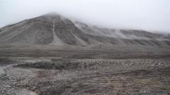 Mountains panorama. Skansbukta. Svalbard, Spitzbergen Stock Footage