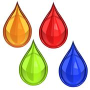 Glossy waterdrop or blood Stock Illustration