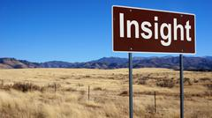 Insight brown road sign Stock Photos