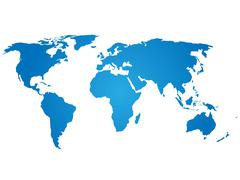 Blue silhouette of world map Piirros