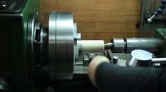 Milling machine operator working in the workshop Stock Footage