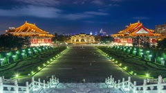 Timelapse of famous Chiang Kai-Shek Memorial Hall . Stock Footage