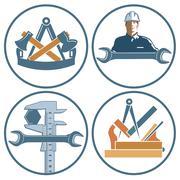 Craftsman, locksmith, carpenter, banner Stock Illustration