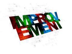 Business concept: Improvement on Digital background Stock Illustration