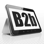 Finance concept: Tablet Computer with B2b on display Stock Illustration