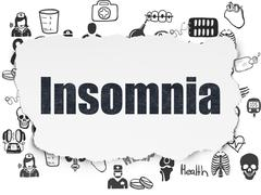 Healthcare concept: Insomnia on Torn Paper background Stock Illustration