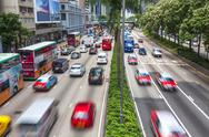 Hong Kong Cars and Taxi Traffic Stock Photos