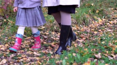 Feet in rubber boots Stock Footage