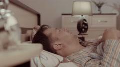 Young sleeping man having a nightmare Arkistovideo