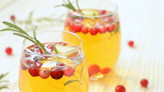 Christmas sangria with apple sider Stock Footage
