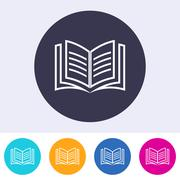 Vector open book icon colorful buttons Piirros
