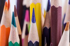 Crayons close up macro photo Stock Photos