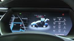 Tesla Model X P100D Instrument Panel Stock Footage