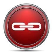 Link icon. Internet button on white background.. Stock Illustration