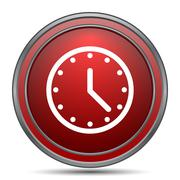 Clock icon. Internet button on white background.. Stock Illustration