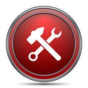 Tools  icon. Internet button on white background.. Stock Illustration