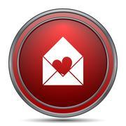 Send love icon. Internet button on white background.. Stock Illustration