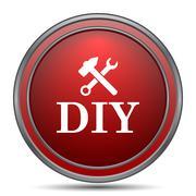 DIY icon. Internet button on white background.. Stock Illustration