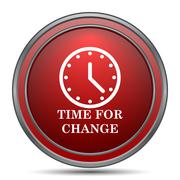 Time for change icon. Internet button on white background.. Stock Illustration