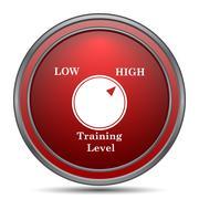 Training level icon. Internet button on white background.. Stock Illustration