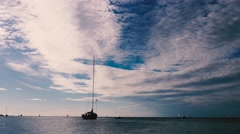 Boat in the sky Stock Footage