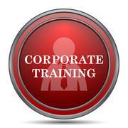 Corporate training icon. Internet button on white background.. Stock Illustration